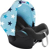 Dooky Hoody Zonnekap - Baby Blue / Blue Stars