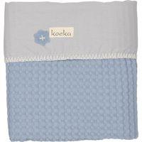 Koeka Wiegdeken Antwerp - Soft Blue/Silver Grey