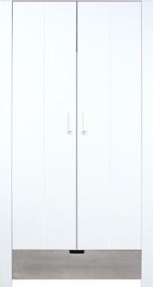 Bopita 2-Deurskast Medium White/Gravel Wash - Basic Wood BabyFlex