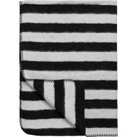Ledikantdeken Black Label Stripe Zwart/Wit 120x150cm - Meyco