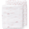 Fresk Swaddle Set 120x120cm Rainbow - Chintz Rose