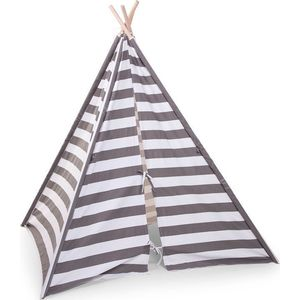 Tipi Tent Grijs Wit Streepjes - Childhome