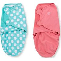 Swaddle Me Premium Small Pink & Aqua Dot 2-pack - Summer (UL)