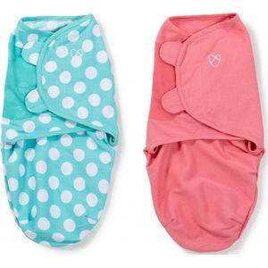 Swaddle Me Premium Small Pink & Aqua Dot 2-pack - Summer (UL)