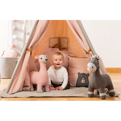 Vaco Deer Small Gebreid - Pink