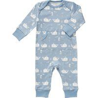 Fresk Pyjama - Whale Blue Fog 6-12 m