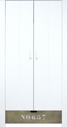 Bopita 2 Deurskast Medium Whitestone Wash No657 Basic Wood Babyflex