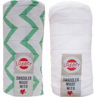 Lodger Swaddler 2-pack Anise/White