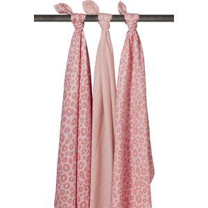 Meyco Swaddle Panter Pink - Uni Lichtroze - Panter Pink