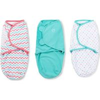 Swaddle Me Premium Small ZigZag Multi & Aqua & Multi Dot - 3-pack - Summer (UL)