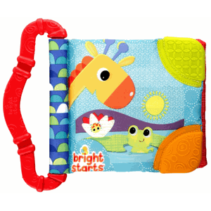 Bright Starts Teeth&Read Babyboek - Rood