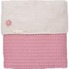 Koeka Wiegdeken Oslo 75x100cm - Blush Pink/Pebble(UL)