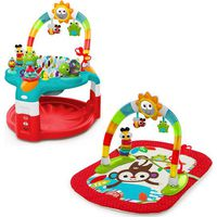 Bright Starts Activity Gym/Saucer Red Silly Sunburst