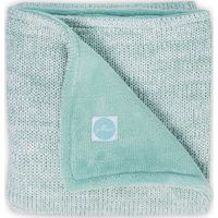 Jollein Deken 100x150cm Melange Knit Fleece - Soft Green