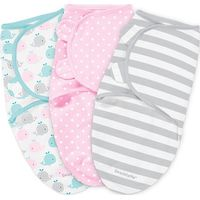 Swaddle Me Premium Small Pink Whale&Pink Spot&Grey Stripe - 3-pack - Summer