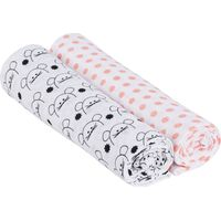Lässig Swaddle & Burp Blanket X- Large - Little Chums Mouse
