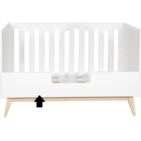 Quax Bedrail 140cm Trendy - Wit (produkt wordt geleverd zonder bed)