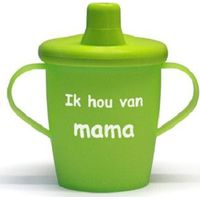 """Antilekbeker """"ik hou van mama"""" groen"""