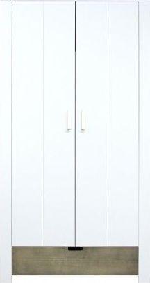 Bopita 2-Deurskast Medium White/Stone Wash - Basic Wood BabyFlex