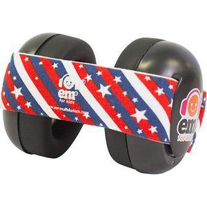 Em's 4 Bubs Gehoorbeschermers - Black Stars 'n' Stripes