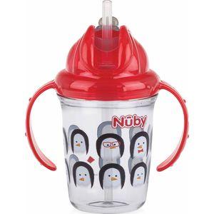 Nuby Flip-It Antilekbeker Met Handvatten En Rietje - Red