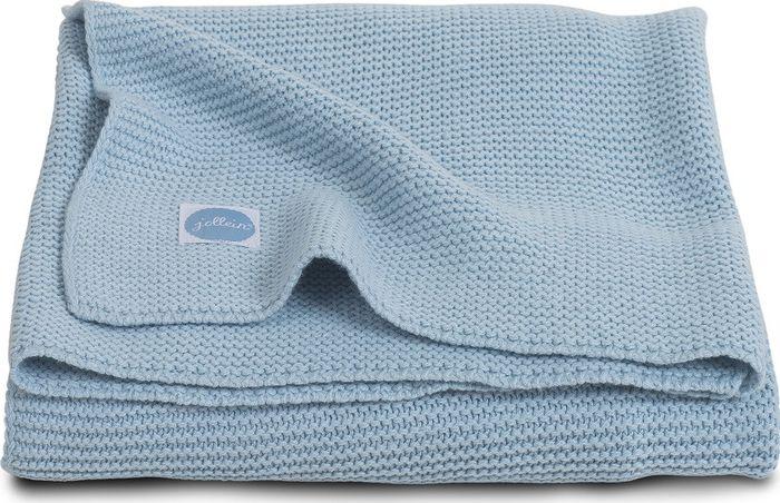 Jollein Deken 100x150cm Basic Knit Ice Blue