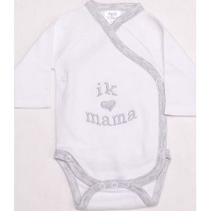 "Romper Met Tekst "" Ik Hou Van Mama'' - Petit Villian"