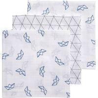 Meyco Hydrofiele Monddoekjes Boat / Triangle - Blauw/Grijs/Wit