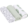 Lässig Swaddle & Burp Blanket L - Little Spookies Olive