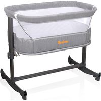 Baninni Bed Side Crib Nesso - Gray