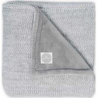 Jollein Deken 75x100cm Melange Knit Fleece - Soft Grey