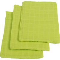 Jollein Hydrofiel Washandje Soft - Lime (3pack)