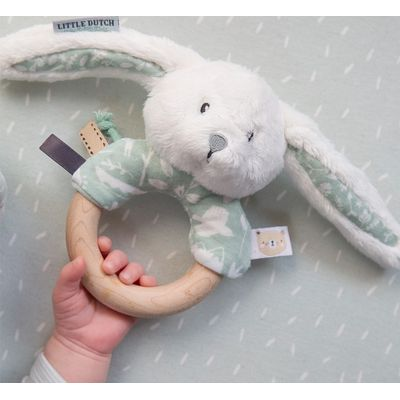 Little Dutch Rammelaar Met Houten Ring - Adventure Mint